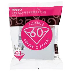 Filtry papierowe do dripa Hario V60-01 100szt