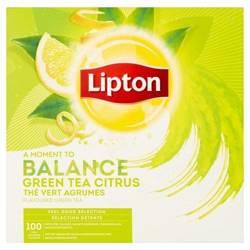 Zielona herbata Lipton Classic Green Tea Citrus 100x1,3g