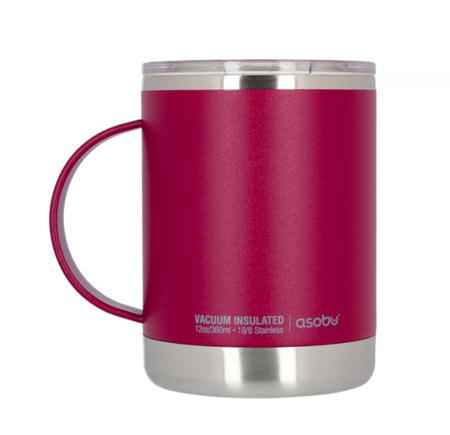 Asobu Ultimate Coffee Mug Burgundowy 360ml - Kubek termiczny