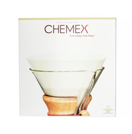 Chemex Filtry papierowe okrągłe, niezłożone 6, 8, 10 filiżanek