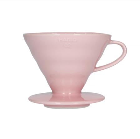 Hario ceramiczny Drip V60-02 Różowy