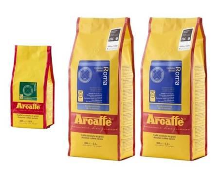 Kawa ziarnista Arcaffe Roma 2x1kg + Kawa ziarnista Arcaffe Meloria 250g